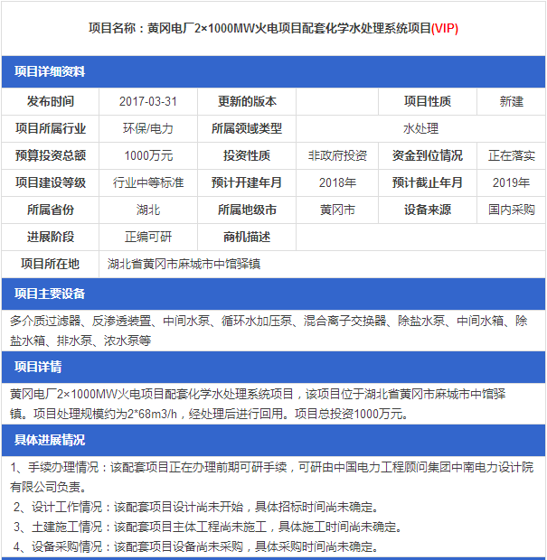 保定西北郊热电厂_黄冈电厂2×1000MW火电项目配套工业化学处理系统项目_中国电力 ...